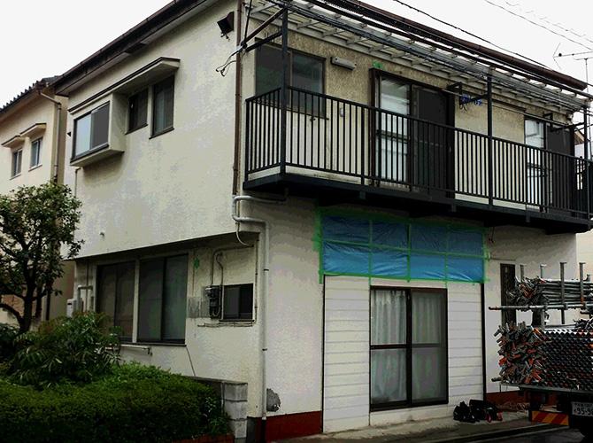 東京都葛飾区の屋根塗装の施工前