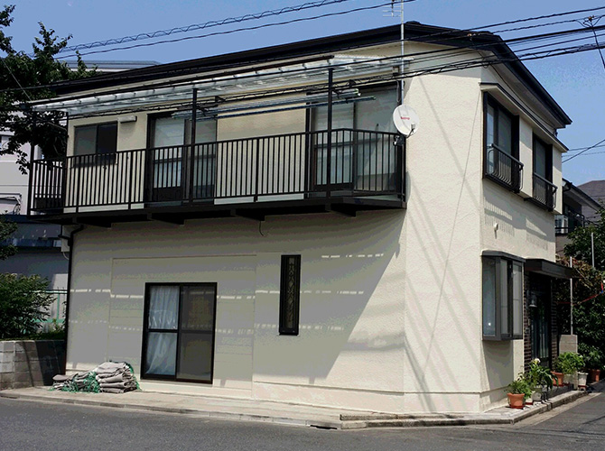 東京都葛飾区の屋根塗装の施工後