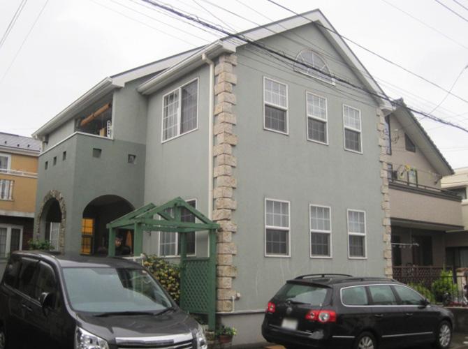 千葉県浦安市の外壁塗装・屋根塗装の施工事例(20140805)の施工前