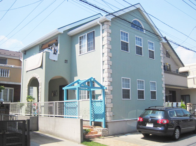 千葉県浦安市の外壁塗装・屋根塗装の施工事例(20140805)の施工後