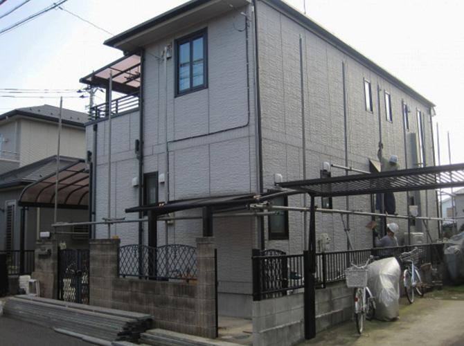 東京都練馬区で外壁塗装にシリコン塗料を使用した施工事例の施工前