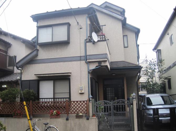 東京都国立市で外壁塗装にシリコン塗料を使用した事例の施工前