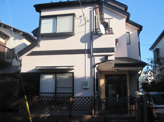 東京都国立市で外壁塗装にシリコン塗料を使用した事例の施工後