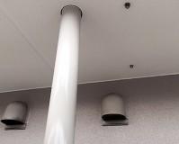 埼玉県三郷市のマンションベランダ雨樋の塗装工事の施工事例