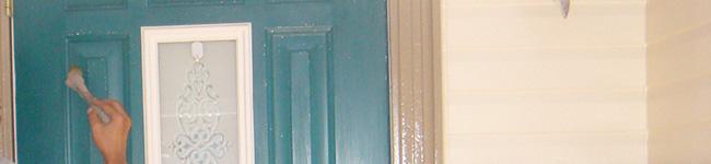 玄関ドアの塗装工事(塗り替え)でイメージアップ