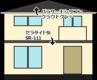 東京都杉並区の外壁塗装・屋根塗装工事の施工事例(20150012)