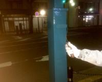 神奈川県平塚市の街路灯の塗装工事の施工事例