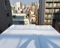 東京都台東区のビル屋上設備の錆止め塗装工事の施工事例