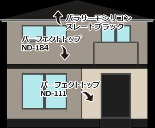 東京都足立区六木の外壁塗装・屋根塗装工事の施工事例(20150067)
