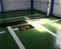 茨城県水戸市工場の外壁塗装・鉄部塗装工事の施工事例