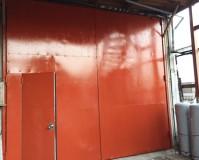 神奈川県横浜市店舗の鉄扉錆止め塗装工事の施工事例