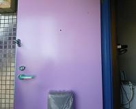 東京都品川区アパートの玄関ドア塗装工事の施工事例