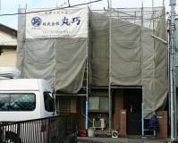 外壁塗装工事の足場設置