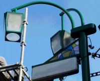 東京都板橋区商店街の街路灯塗装工事の施工事例
