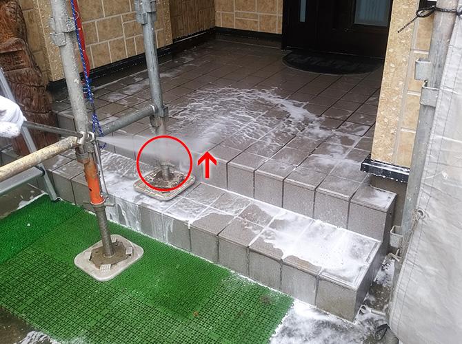 外壁塗装の洗浄時の足場のポイント