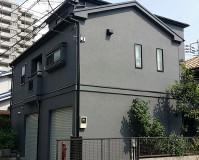 外壁塗装をグレー系の配色で施工