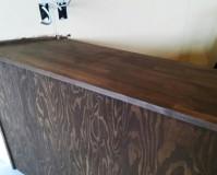 東京都北区店舗の内装木部塗装工事の施工事例