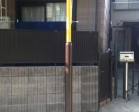 神奈川県川崎市商店街の街路灯サビ止め塗装工事の施工事例