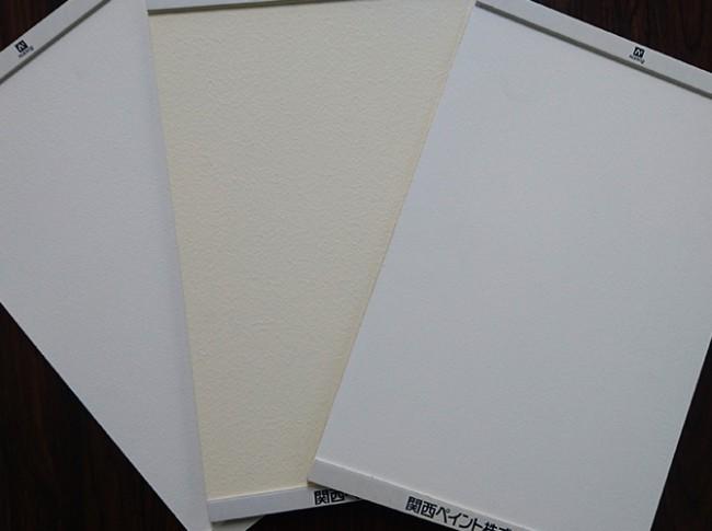 関西ペイントの漆喰塗料アレスシックイの塗り板
