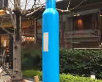 東京都渋谷区の街路灯サビ止め塗装工事の施工事例