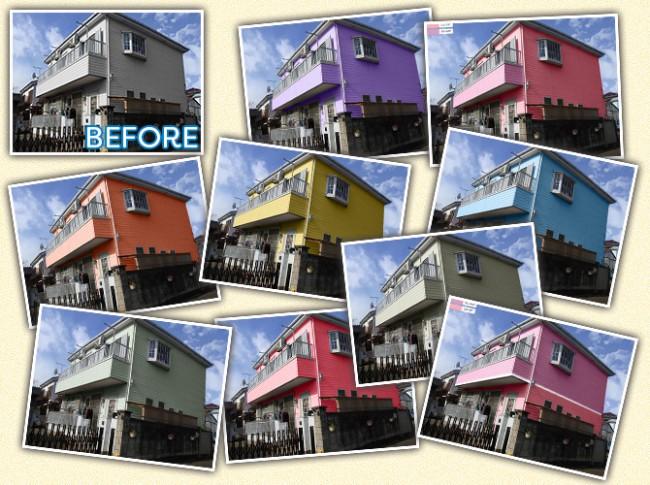 外壁塗装ラボのカラーシュミレーションで色選びに失敗させません。