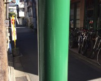 東京都中野区商店街の街路灯塗装工事の施工事例