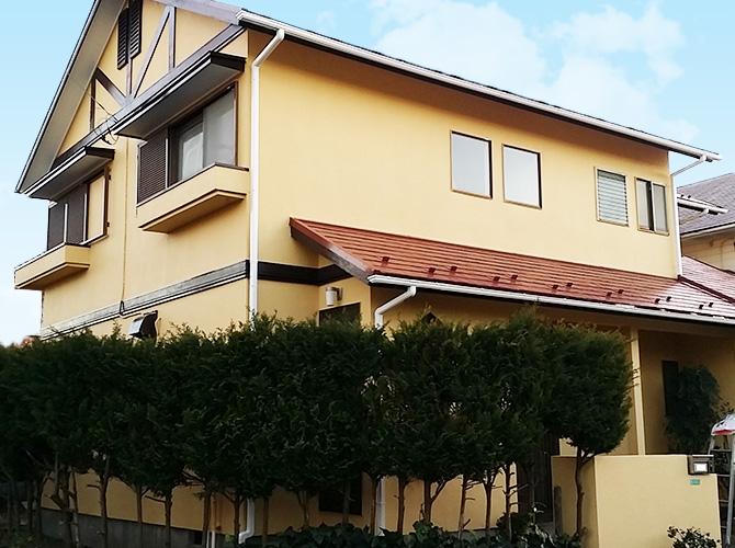 千葉県印西市の戸建住宅の外壁塗装工事の事例