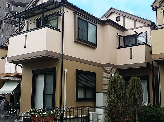 東京都足立区戸建住宅の外壁塗装工事の施工事例