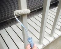 東京都目黒区戸建住宅のウッドデッキ塗装工事の施工事例