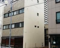 東京都中央区戸建住宅の外壁一面塗装工事の施工事例