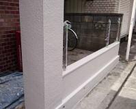 東京都足立区戸建住宅の塀の塗装工事の施工事例
