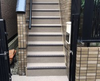 東京都江戸川区戸建住宅の廊下・階段長尺シート工事の施工事例