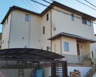神奈川県川崎市戸建住宅の外壁にナノコンポジットWを使った外壁塗装・屋根塗装工事の施工事例