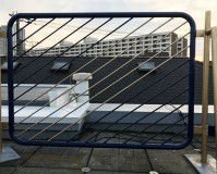 東京都葛飾区戸建住宅の屋上手すりの鉄部錆止め塗装工事の施工事例