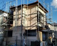 埼玉県草加市戸建住宅の外壁塗装など外装リフォーム工事