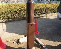 東京都武蔵野市公園内の街路灯塗装工事の施工事例