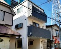 東京都葛飾区3階建て住宅の外壁塗装・屋根塗装工事の施工事例
