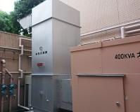 東京都中央区病院内の鉄部サビ止め塗装工事の施工事例