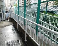 東京都港区マンションの手すりサビ止め塗装工事の施工事例