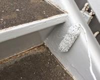 千葉県佐倉市アパートの鉄骨階段補修・塗装工事の施工事例
