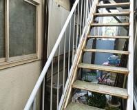 東京都墨田区アパートの鉄骨階段サビ止め塗装工事の施工事例