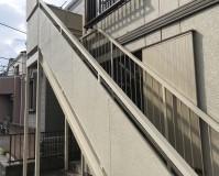 東京都江戸川区アパートの鉄骨階段サビ止め塗装工事の施工事例