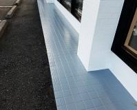 千葉県佐倉市店舗の犬走り(土間コンクリート)塗装工事の施工事例