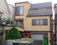東京都文京区3階建住宅の外壁塗装・屋根塗装・防水工事の施工事例