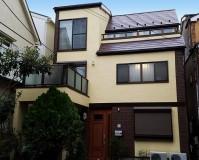 東京都文京区3階建住宅の外壁塗装・屋根塗装工事の施工事例