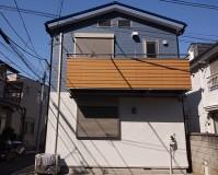 東京都渋谷区2階建住宅の外壁塗装・屋根塗装工事の施工事例