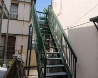 千葉県市川市アパート鉄骨階段のサビ止め塗装工事の施工事例