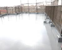 東京都足立区マンションの屋上防水工事の施工事例(20200428)