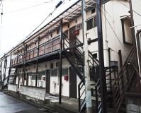 千葉県千葉市アパートの鉄骨階段、鉄骨廊下の塗装工事の施工事例(2020/06/09)