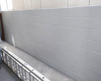東京都文京区の擁壁(ブロック塀)塗装工事の施工事例(2020/06/11)